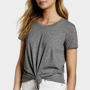 Madewell | Cotton Knot Front Short Sleeved Tee